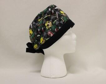 Zelda Windwaker Link FLANNEL Surgical Scrub Cap Chemo Hat