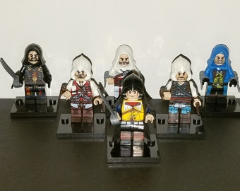 Assassins Creed Set Of 6 Minifigures Arno Ezio  Building Toys (LEGO Compatible)