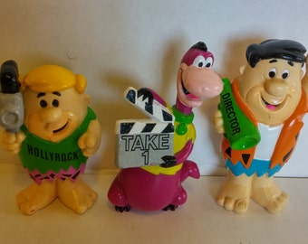 Fun Vintage 1992, Flintstone Cartoon Characters; Fred, Barney and Dino