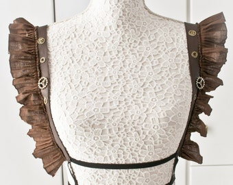 Steampunk harness with leather details-steampunk harness-harness-steampunk accessories