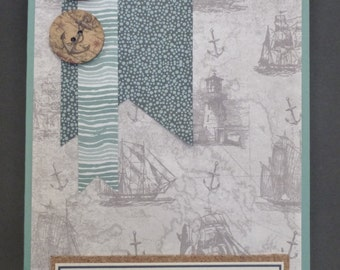 Nautical 70th Birthday Card 1500