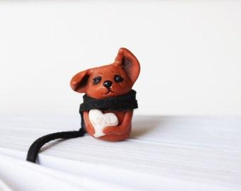 Dog Bookmark Planner Clip Ribbon