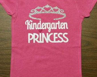 PreSchool-Kindergarten-1st Grade-2nd Grade Princess-Custom Made to Order Shirt