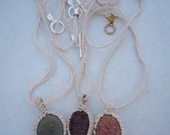Maine Coast Rock Necklaces