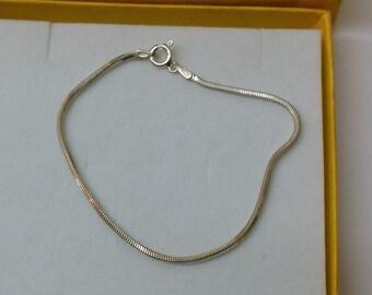 925 Silver snake bracelet vintage SA294