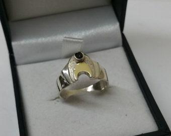15.8 mm silver ring 925 designer Crystal rar SR383