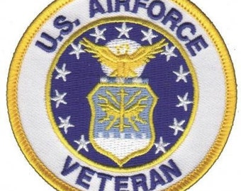 United States Air Force Veteran Patch - USA - Armed Forces Iron On Applique