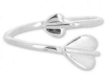 Heart Sterling Silver Ring adjustable