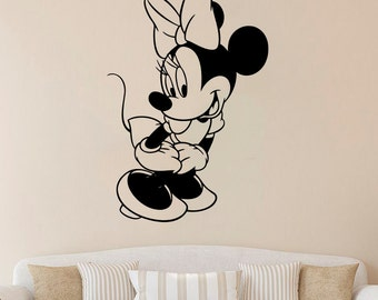 Minnie Mouse Wall Sticker Minnie Mouse Vinyl Decal Cartoon Decals Wall  Vinyl Decor /1zzm/ Part 73
