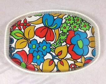 Retro Flower Tray Decorative Vintage Flower Tray Flower Serving Tray