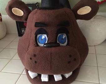 Freddy Fazbear, Five Nights at Freddy's Costume Mask.  Movable jaw!! FNAF!!