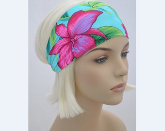 Yoga Fitness Headband-Running Headbands-Festival Headband-Floral Print-Boho Headbands-Hippie Headband-Costume Dance Headband-NonSlip