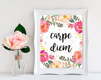 the use of carpe diem in literary works The surviving works of horace include two books of satires, a book of epodes, four books of odes, three books of letters or epistles, and a hymn like most latin poets, his works make use of greek metres, especially the hexameter and alcaic and sapphic stanzas.