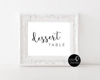 Dessert Table Printable Wedding Sign | Wedding Reception Sign | Bridal Shower Sign | Printable Sign | 8x10