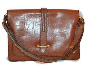 1970s, Leather Handbag, Satchel, English Style