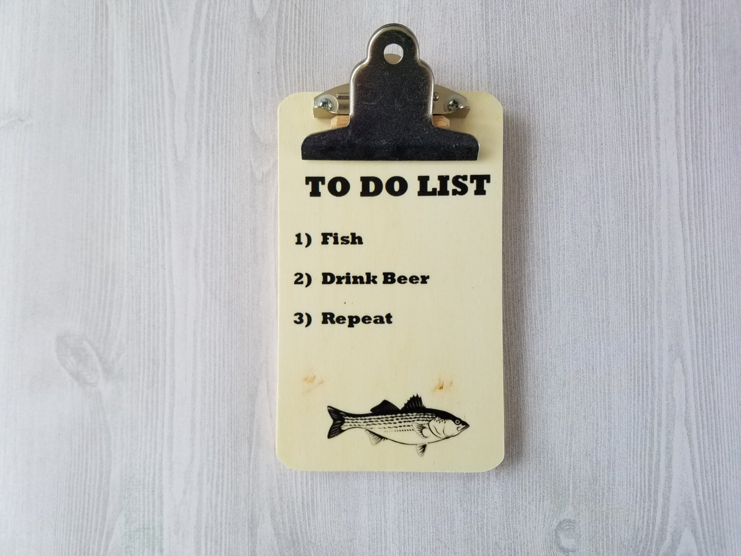 Fishing Gift For Fisherman To Do List Clipboard Wood Gift Custom Gift Wood  Board Funny Gift
