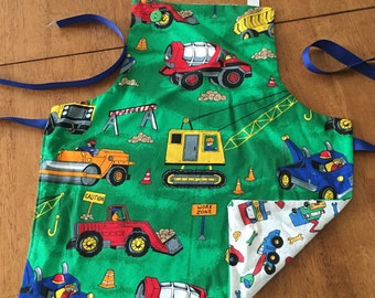 Construction Themed Toddler Apron