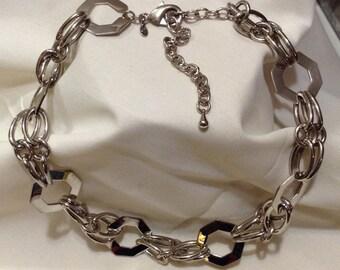 PREMIER DESIGN Large Chain Link Necklace, PD Chains Dual Necklace 6141-80