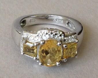 STS Karis Citrine CZ Ring Size 7