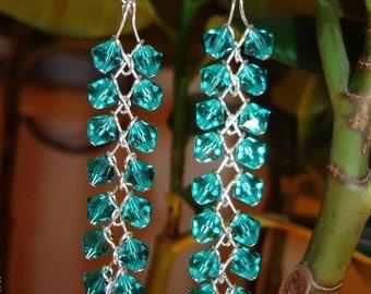 Miss Teen Louisiana Swim Suite choiceSwarovski Crystal Chandelier Earrings, Swarovski Earrings,  Handmade Earrings, Sterling Silver Earrings