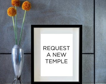 New Temple Print Request