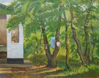 VINTAGE ORIGINAL OIL Painting by Shatalina N. 1980s, Signed, Ukrainian Art, Handmade Artwork, High Quality