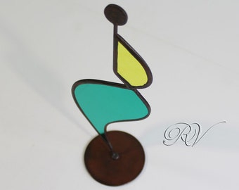 "Ornament Sculpture  in Tiffany - ""Ballerina"" - Decorating  with colored glass - Gift ideas"
