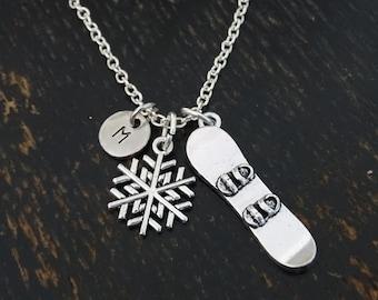 Snowboard Necklace, Snowboard Charm, Snowboard Pendant, Snowboard Jewelry, Snowboarding Team, Snowboarder Girl, Snowboarder Gifts