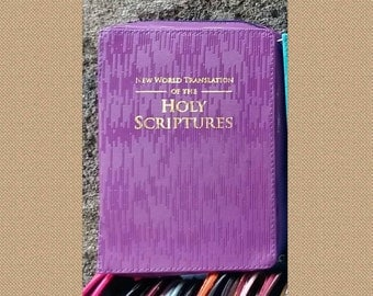 Purple Lines NWT 2013 medium size bible cover