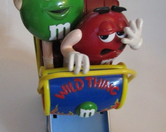 Vintage M&M Wild Thing Roller Coaster Candy Dispenser
