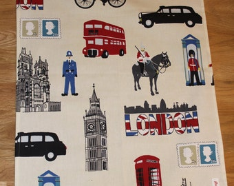 cotton Teatowel/ drying up cloth/ London capital teatowel/ kitchen accessory/London gift