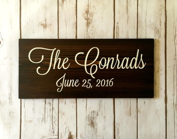 Last Name Sign Wood Name Sign Country Home Decor Wooden