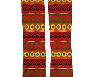 Red Aztec Socks