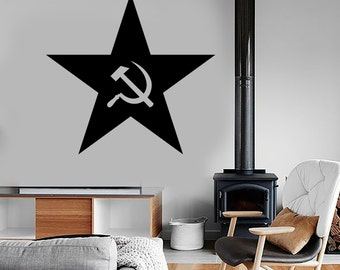 Wall Vinyl Decal Soviet Union Star And Symbols Mural Sticker Decor 1683dz