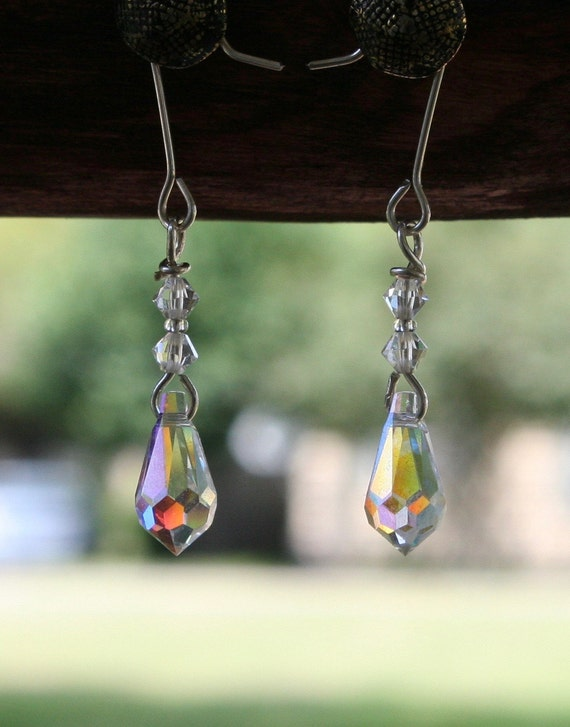 Sterling Silver and Crystal Earrings (clear)