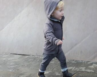 Baby Hoodie - Kids Hoodie - Boys Hoodies - Girls Hoodies - Grey Hoodie - Kids Sale - Kids Gift - Xmas Gift - by PetitWild