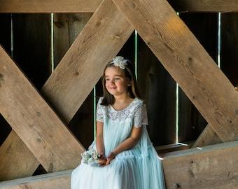 flower girl lace dress, Rustic wedding dress, Birthday dress, Lace girls dress, Baby dress, 1T, 2T,3T,4T, 5T, 6, 7, 8, 9/10, 11/12
