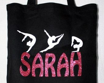 Gymnastic Bag, Personalized Gymnastic bag, Gym tote, Girl gym bag, gymnastic gifts, sports bag/tote, gymnast bag, custom gym bags