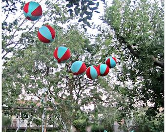 CUSTOM Decor Reusable Garland, Festive Fabric Balloon Ball Decor, bauble, fabric covered balloon, indoor, outdoor, celebrate