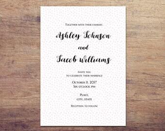 simple invitation template