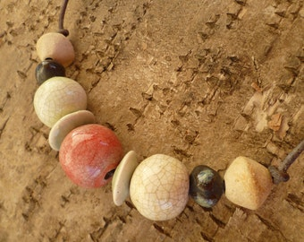 Jove Necklace. Ceramic necklace. Christmas gift.