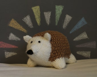 Knit Stuffed Hedgehog (New!)