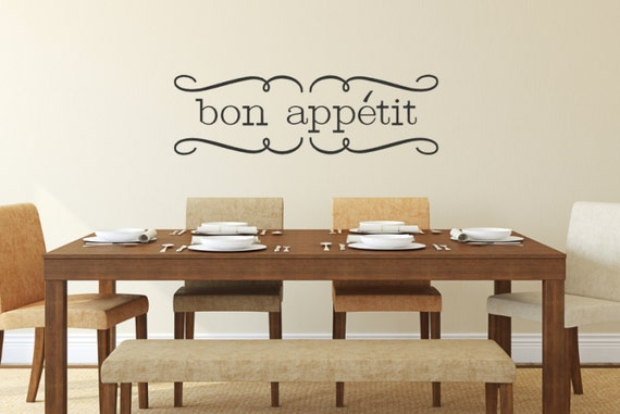 bon appetit dining kitchen wall decal by vinylcreativedesigns