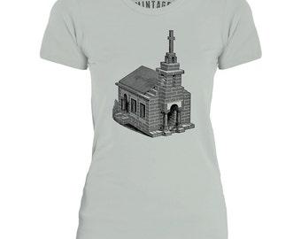 Mintage Toy Church Womens Fine Jersey T-Shirt