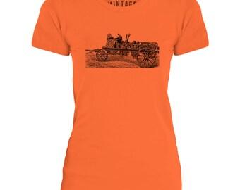 Mintage Steam Powered Machine Womens Fine Jersey T-Shirt