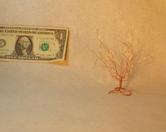 delicate copper wire tree