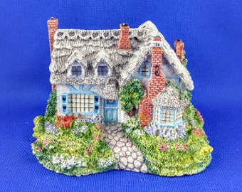 Sweetheart Cottage Sculpture - signed by Thomas Kinkade