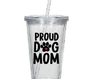 Best Dog Mom Tumbler- Dog Mom Tumbler- Gift for Dog Lover- Mom Gift- Personalized Tumbler-Pet Lover Gift-PawPrint Tumbler-Dog Tumbler