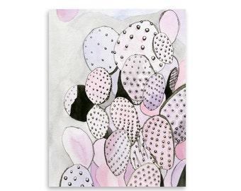 Cactus Garden Art Print / Cactus Art / Wall Art / Nature Art / Home Decor / Mishka Marie