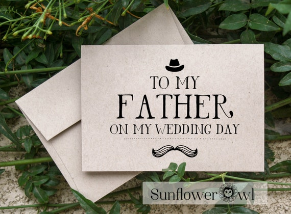Gift For My Dad On My Wedding Day : To my father on my wedding day wedding thank you card parents of the ...